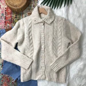 Vintage L.L. Bean • Button Down Cardigan Sweater